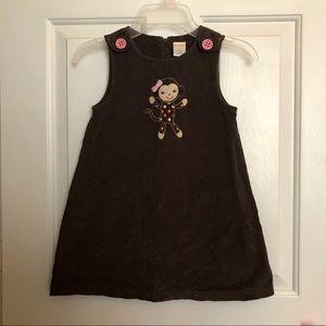 GYMBOREE Brown Corduroy Dress Sz 3T
